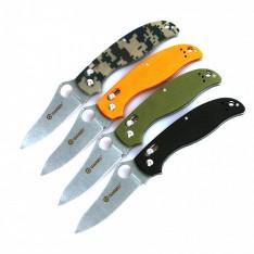 Нож Ganzo G733 черный, камуфляжный, зеленый