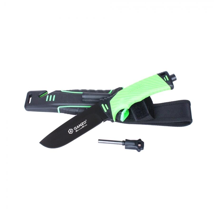 Нож Ganzo G8012, зеленый + мультитул в подарок!