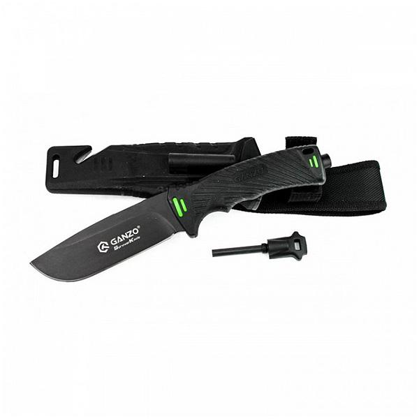 Нож Ganzo G8012, черный + мультитул в подарок!